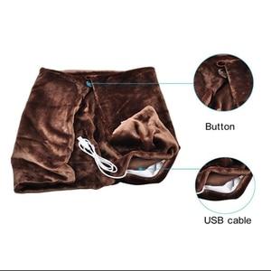 Image 5 - Black Office Car Electric Warming Heating Blanket Pad Shoulder Neck Mobile Heating Shawl USB Soft 5V 4W Winter Soft Heated Warm