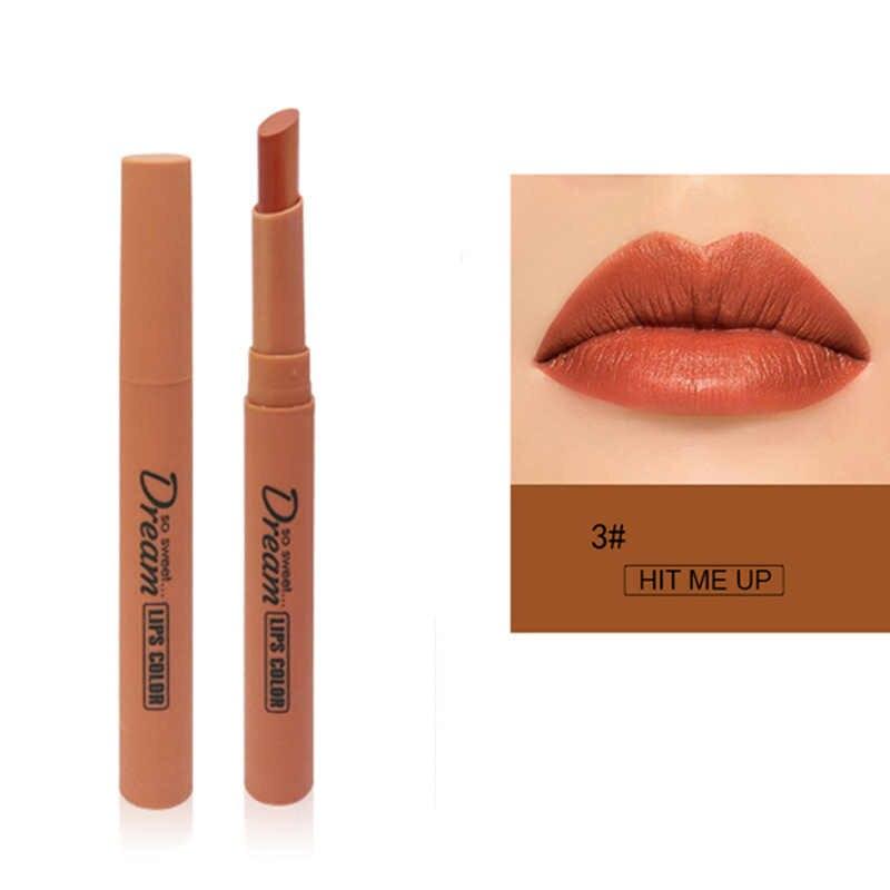 Fancy Women Lipstick Matte Waterproof Long Lasting Lipstick Pencil Nude Brown Women Lips Sexy Lipstick Lip Makeup