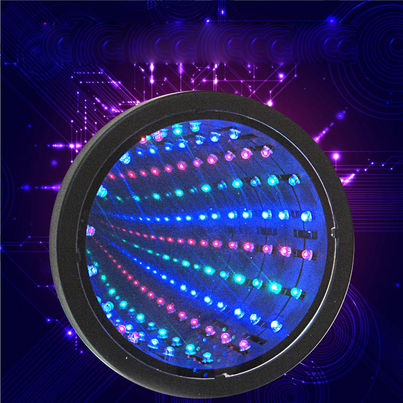 LED Mirror Tunnel Light Round Infinity Tunnel Lamp Novelty Wall Hanging Sign Light Home Decoration 3D Tunnel Mirror Light