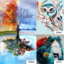 Kit de peinture par numéros, toile peinte à la main, bricolage, images artisanales, ensemble d'huile, cadeau, coloriage par numéros, ensemble mural en toile