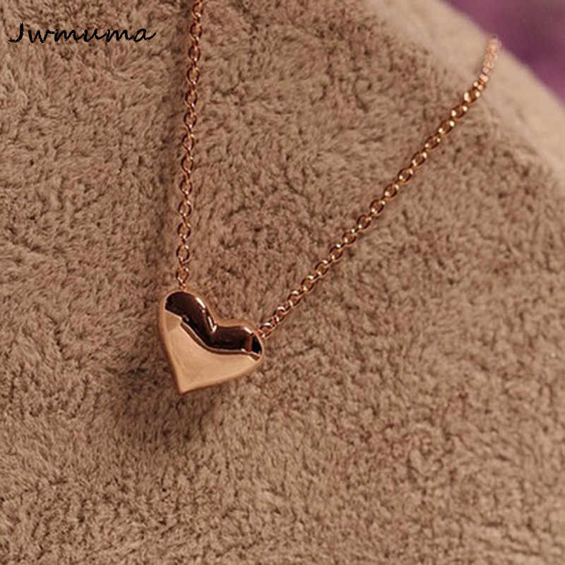 New Heart Women's Necklace Simple Metal alloy clavicle chain Pendant necklace Anti-oxidation alloy jewelry For women Gift