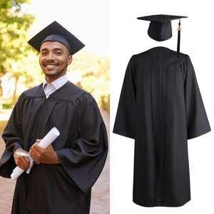 Dress Uniforms Graduation-Gown Team-Wear University Student Adult 1pcs Robes Hat-Set