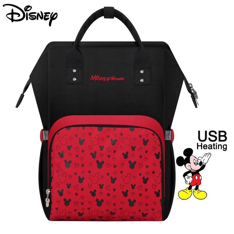 Diaper Bag Baby Disney USB Heating Maternity Nappy Backpack Large Capacity Nursing Travel Baby Care Heat Preservation Dropship