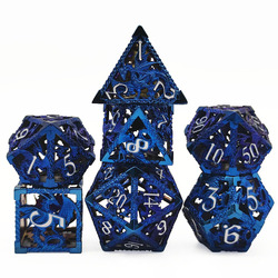 Novo tipo de liga de zinco metal oco dragão dados dnd papel jogando rpg mtg dungeon dragão jogo de tabuleiro entretenimento dados