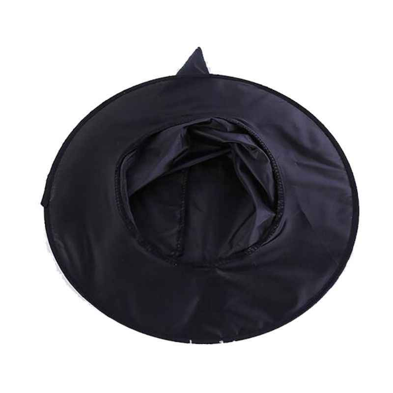 Черные ведьмины колпаки вечерние шапки Косплей Хэллоуин нарядное платье Декор топ шляпа маскарадная шапка ведьмы