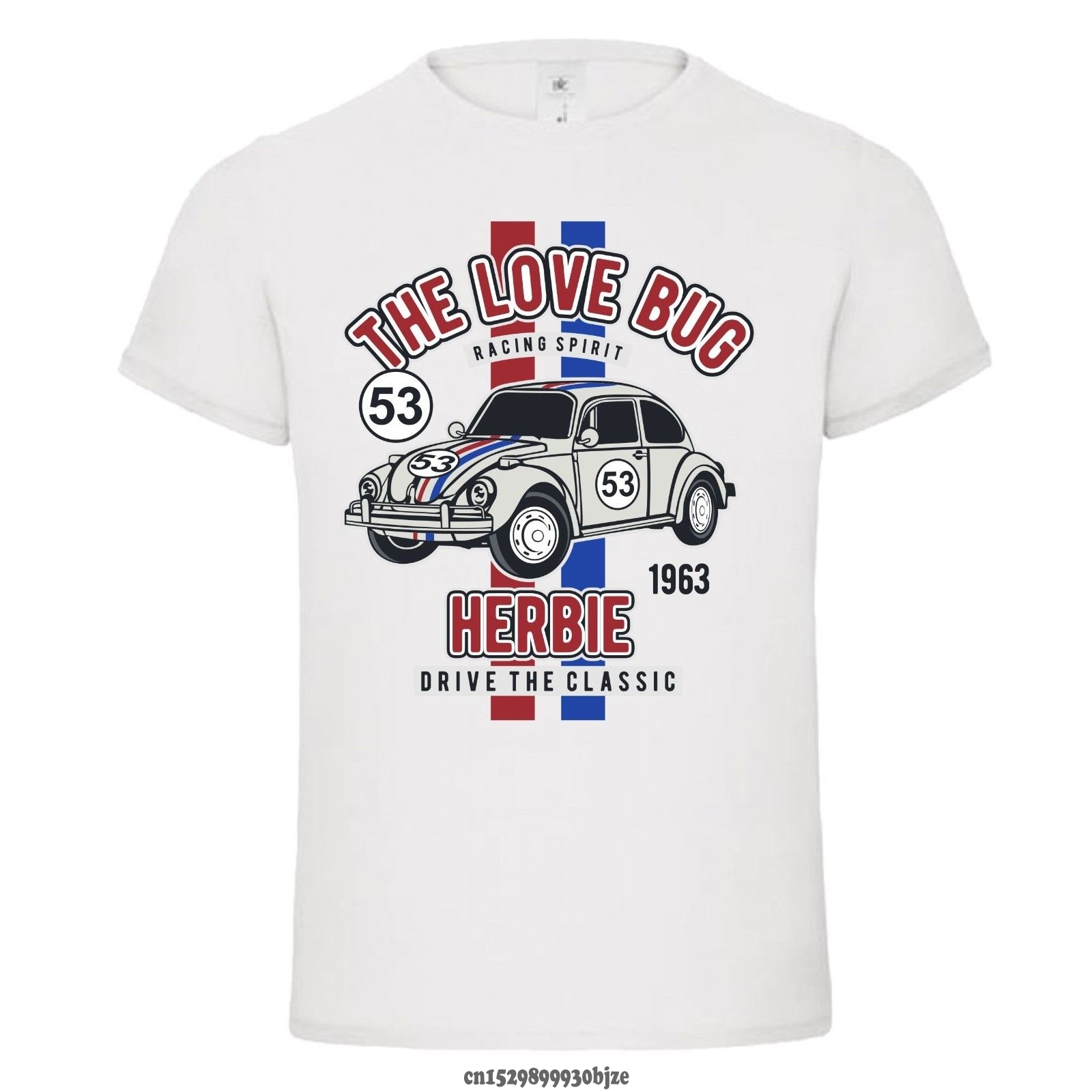 Men's T-shirt Cartoon Fun THE LOVE BUG Herbie 53 Fashion Classic Mashup Mens NEW 2020 Man's T-shirt
