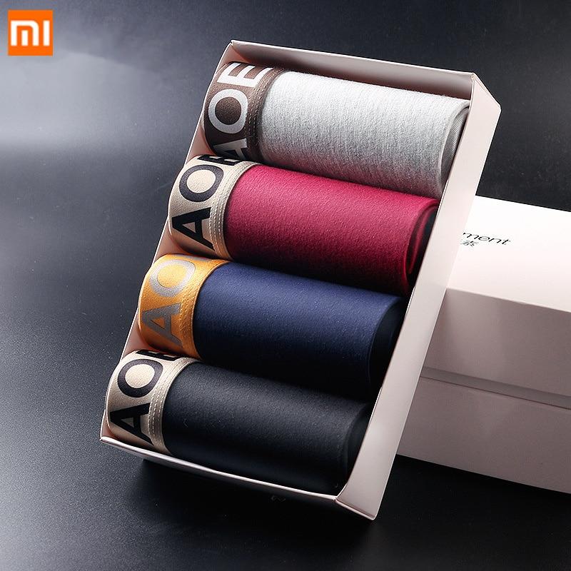 4PCS/Set Xiaomi Mijia Men's Underwear Modal Breathable Boxer Home Thin Sexy Panties For Men Convex Men Underwear Summer Wearable