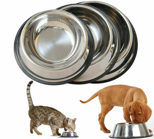 New Dog Cat Bowls Stainless Steel Travel Footprint Feeding Feeder Water Bowl For Pet Dog Cats Puppy Outdoor Food Dish 4 Sizes