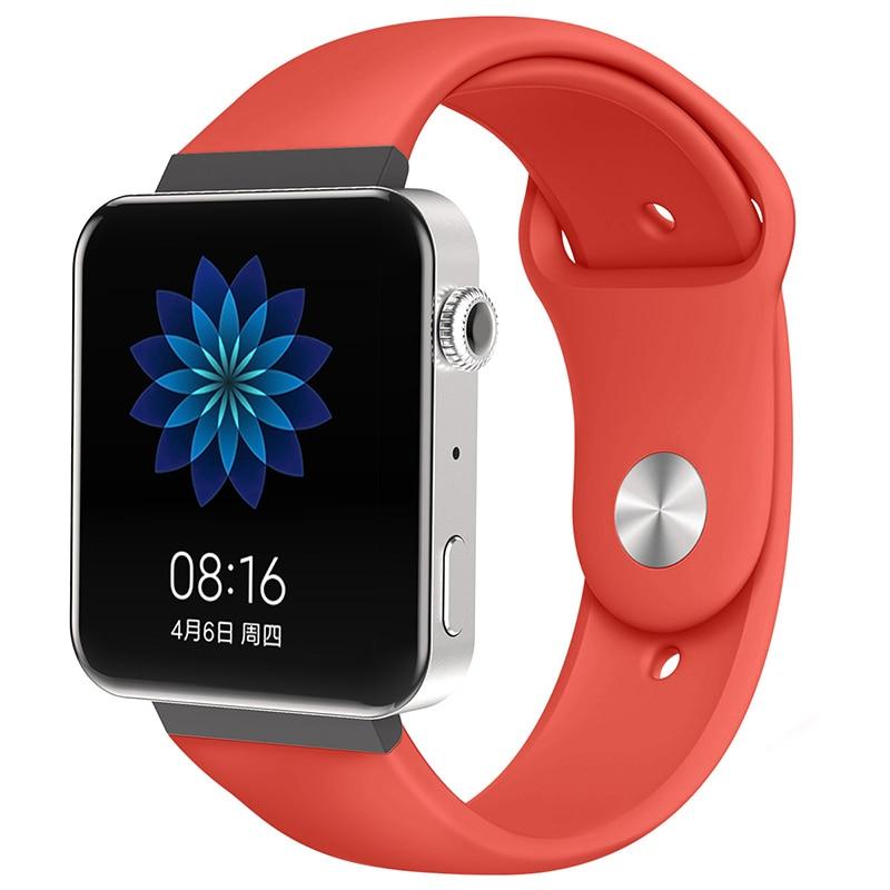 Мягкий силиконовый ремешок для часов для xiaomi smart watch, новинка, сменный ремешок для mi watch, резиновый ремешок для часов, аксессуары - Цвет: 8072