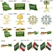Arábia saudita emblema bandeira broche bandeira nacional lapela pino internacional viagens pinos coleções