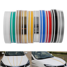 Fita dupla linha de descascar, adesivo vinil, multicolorido, ferramentas de decoração para carro, decalque, corpo, 1 rolo
