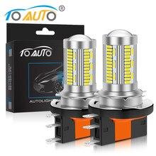2 pçs h15 carro conduziu a lâmpada do farol 8000lm lâmpada led dc 12v farol do carro dia alto feixe de condução correndo luz 3014 chips lâmpada automóvel