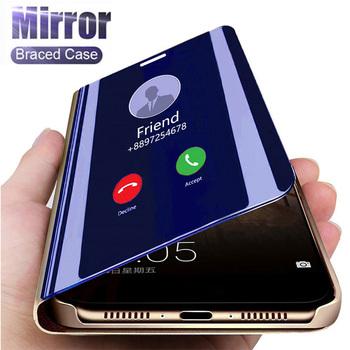 Inteligentne lustro etui z klapką dla Xiaomi Redmi Note 9 9 s 8 7 K20 5 6 Pro 8T 9 8 8A 7A 4X 5 Plus Mi Note 10 Lite 9 SE A1 A2 5X 6X pokrywa tanie i dobre opinie ESSUIAL Smart Mirror Stand Phone Case For Xiaomi 4X Redmi Nocie Redmi Note 4 Redmi 5A Redmi 5 Plus MI 8 SE Redmi Uwaga 5 Pro