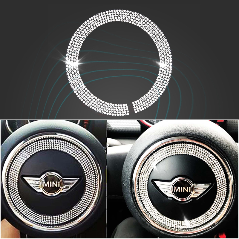 Car Steering Wheel Decoration Crystal Ring Sticker For Mini Cooper F55 F56 Styling