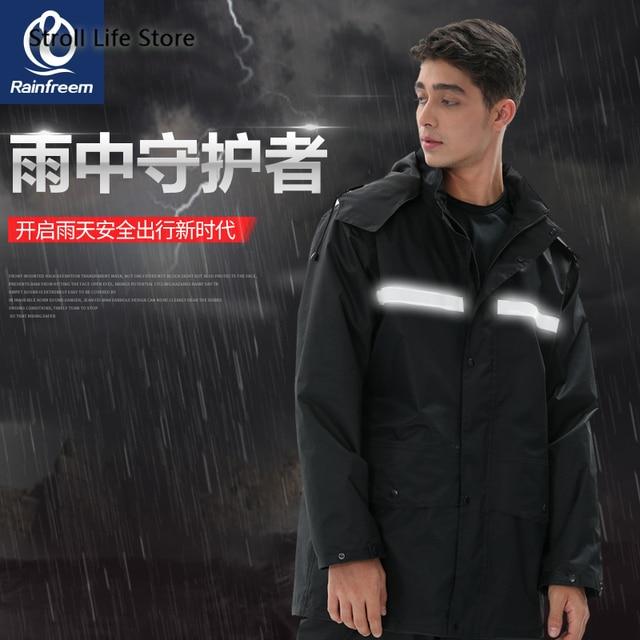 Black Motorcycle Raincoat Jacket Rain Coat Waterproof Suit for Fishing Double Layer Thickened Rainwear Capa De Chuva Gift Ideas 1