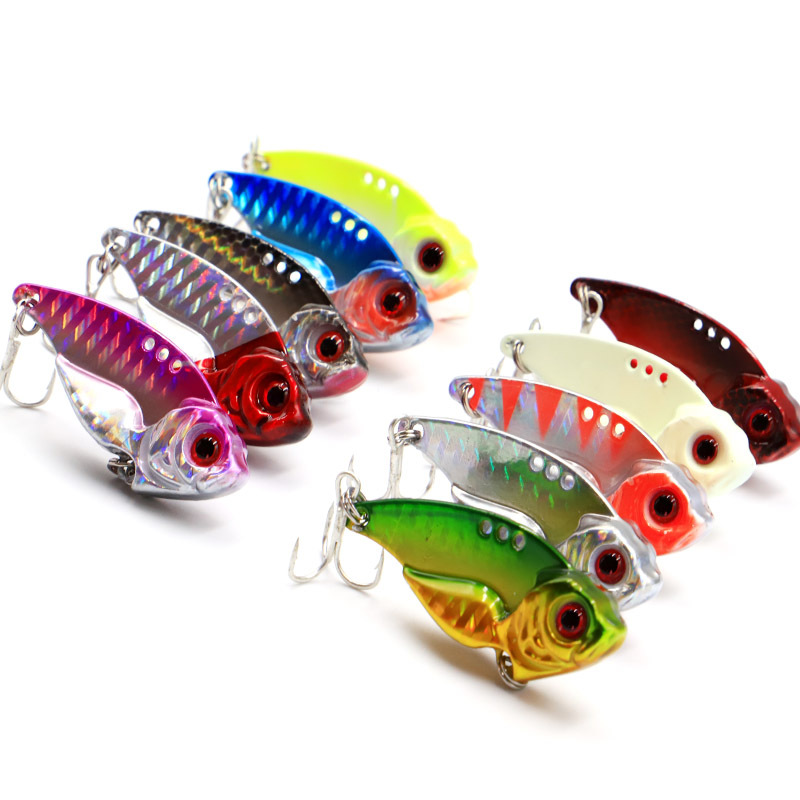 7/10/15/20g 3D EyesMetal Vib Blade Lure Sinking Vibration Baits Artificial Vibe for Bass Pike Perch Fishing 12 Colors 1