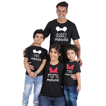 Matching Family T-Shirt Outfits-Look Baby-Girl Mommy Cotton Tops Son Me And Dad