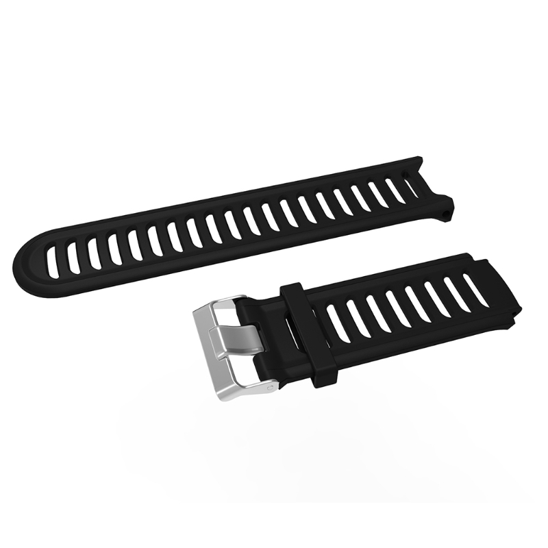 Black Silicone Replacement Wrist Band For Garmin Forerunner 910XT Sports GPS Watch