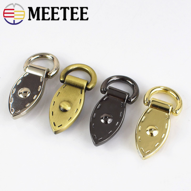 5 8pcs Leaf D Buckle Metal Buckles Handbag Strap Clasp Keyring Dog Chain Hooks DIY Leather Craft Sewing Accessories F1 20 in Buckles Hooks from Home Garden