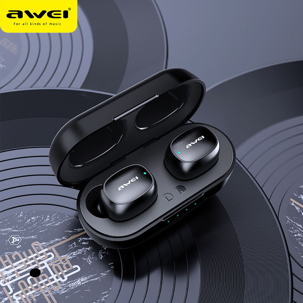 AWEI T13 TWS HiFi Sport Earbuds Bluetooth 5 0 True Wireless Stereo Headphone Fast Pairing Touch Sensor Siri Music Earphone