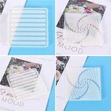 Coaster silicone moldes de carcaça de resina diy esteira de chá ágata coaster moldes de cola epoxy ofício b36d
