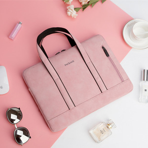 Waterproof PU Leather Briefcase Laptop Bag for Women Business Handbag Female Notebook Bag 13 14 15.6 inch for Macbook pro case