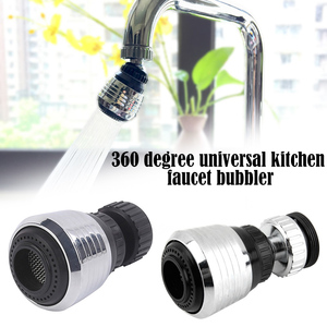 360 Degree Rotatable Faucet Kitchen Aerator Water Diffuser Stainless Steel Water Saving Filter Shower Head Nozzle Tap Connector