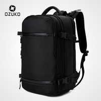 """OZUKO New Men plecak na 15 """"17"""" plecaki na laptopa wodoodporna wielofunkcyjna torba z ładowaniem USB podróżny plecak duży Mochila"""