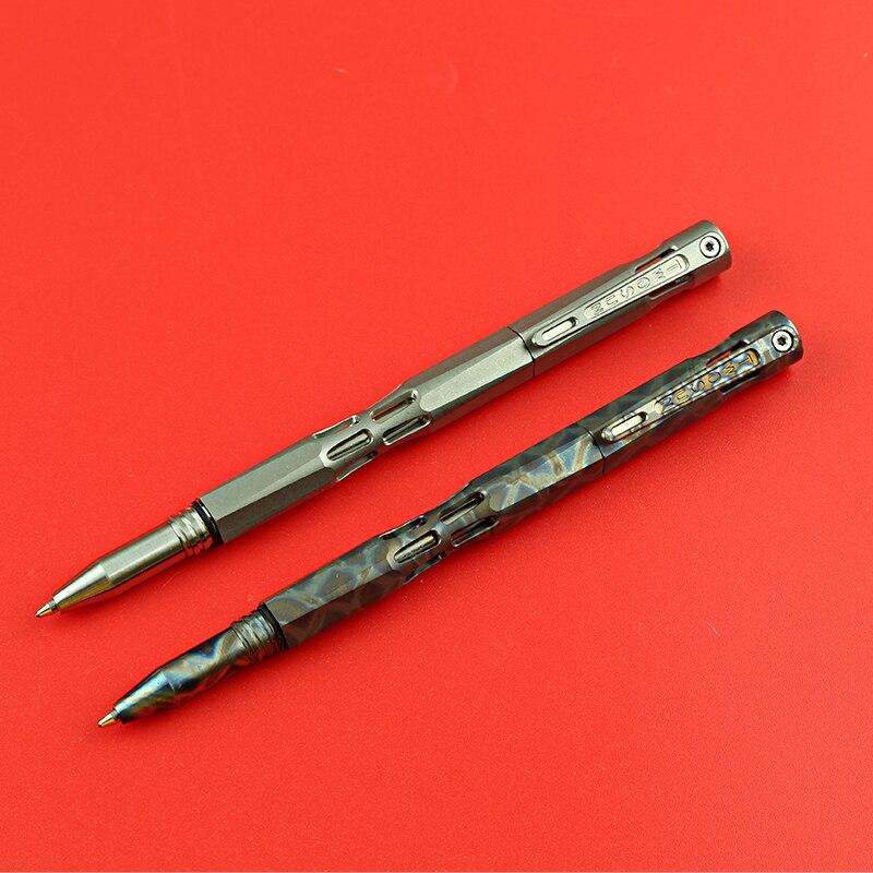 Две солнечные титановые буровые штанги, тактическая анодная ручка для кемпинга, охоты, выживания на открытом воздухе, практичные EDC многофу...