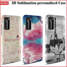 3D Sublimation DIY angepasst Fall ForHuawei P40 Pro Druck Matte Zurück Hartplastik Fall ForHuawei P40pro ELS NX9 Flip Abdeckung