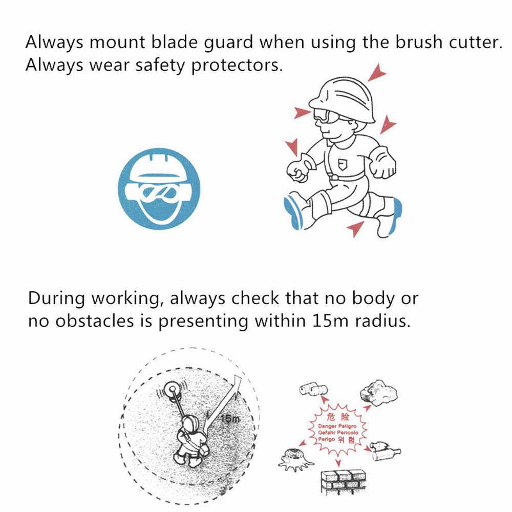 Profesional 40T 255 Mm Diameter Paduan Mesin Pemotong Rumput Cutter Brushcutter Potong Rumput Bagian Pisau Mesin Pemotong Aksesoris Alat untuk Pemotong Sikat