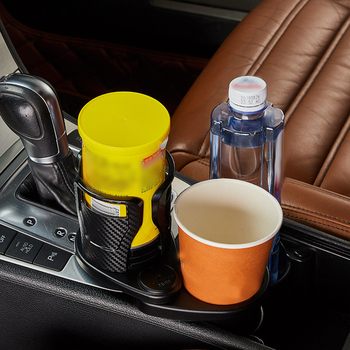 FORAUTO Car Dual Cup Holder Adjustable Cup Stand Sunglasses Phone Organizer Drinking Bottle Holder Bracket Car