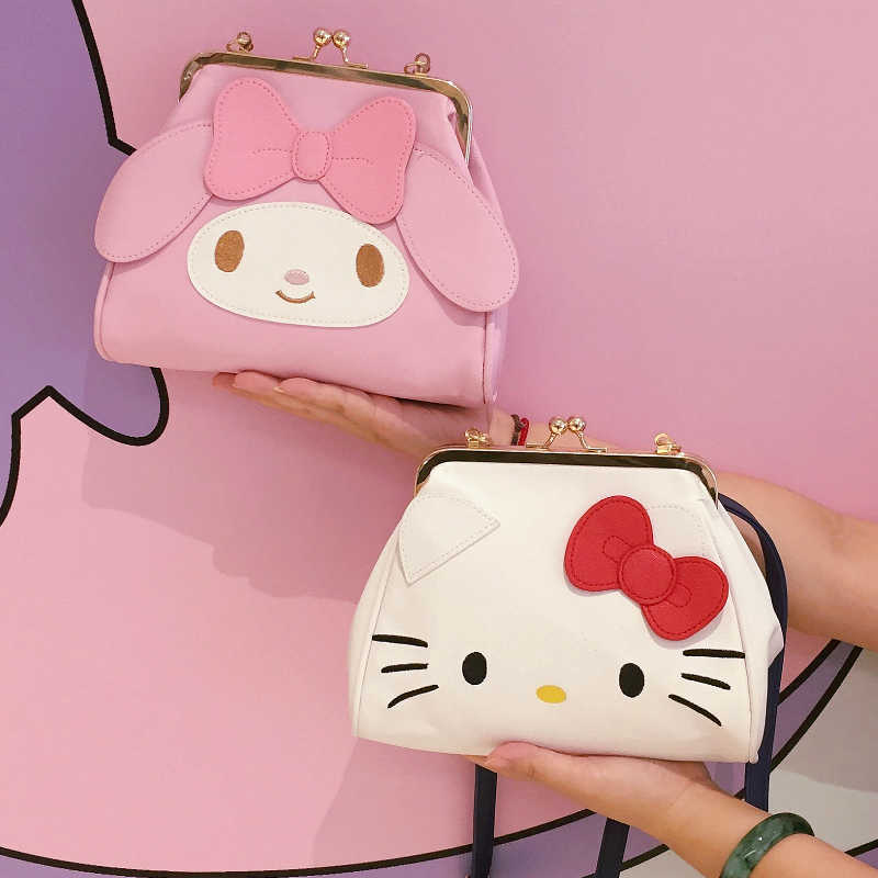 Nette Hallo Kitty My Melody Cinnamoroll PomPomPurin Messenger Tasche Frauen Cartoon Umhängetaschen für Kinder Mädchen Schulter Taschen
