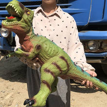 Grande tamanho dinossauro tubarão modelo brinquedos para crianças tyrannosaurus rex fantoches macios animais velociraptor jurássico mundos crianças presente