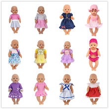 Fashion Llovely Dress Clothes Suit Fit For 43cm Baby Doll 17 Inch Dolls Clothes,Children best Birthday Gift(China)