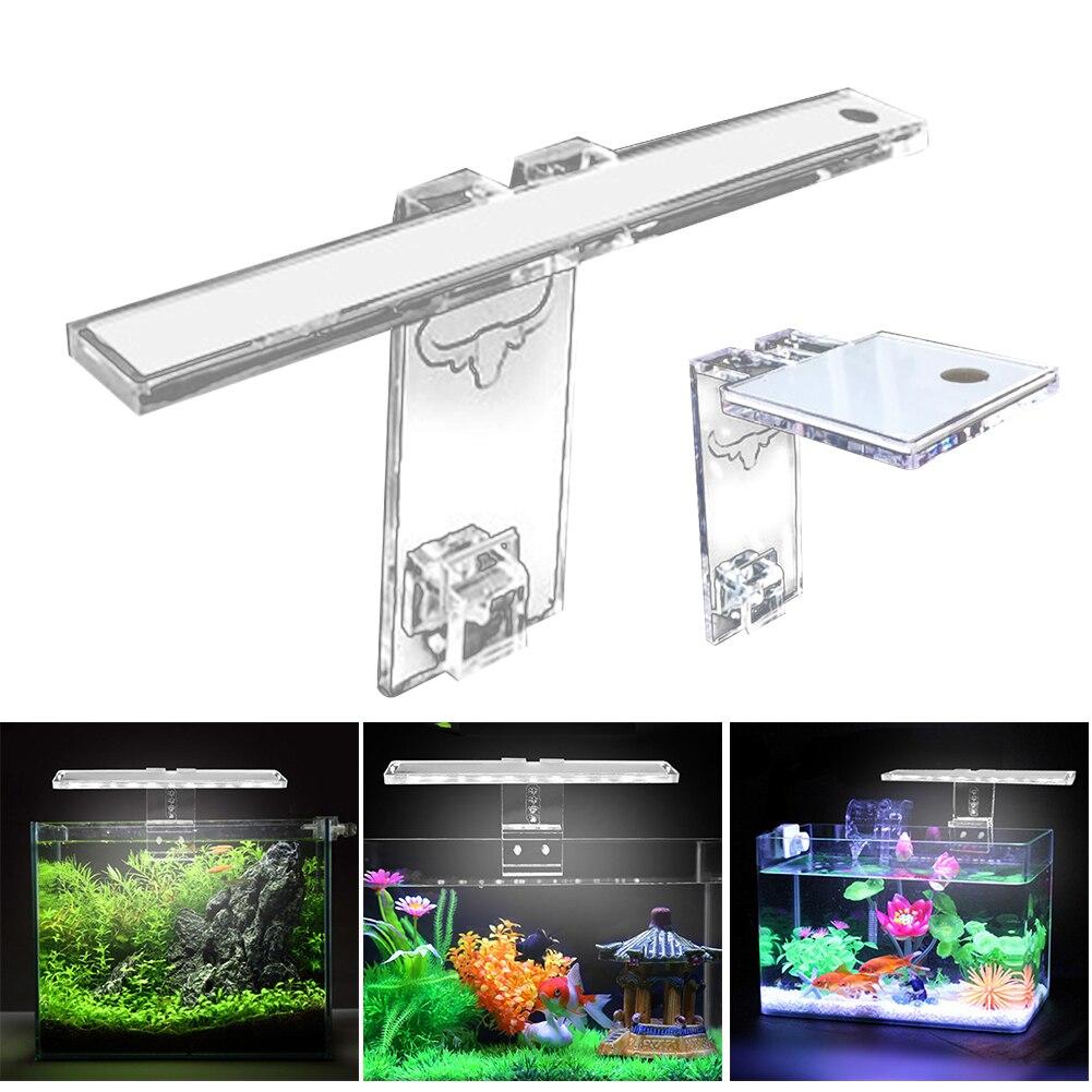 Аквариумная лампа светодиодный светильник для растений подходит для аквариумов 3-8 мм толщина аквариумный кронштейн светильник DC120