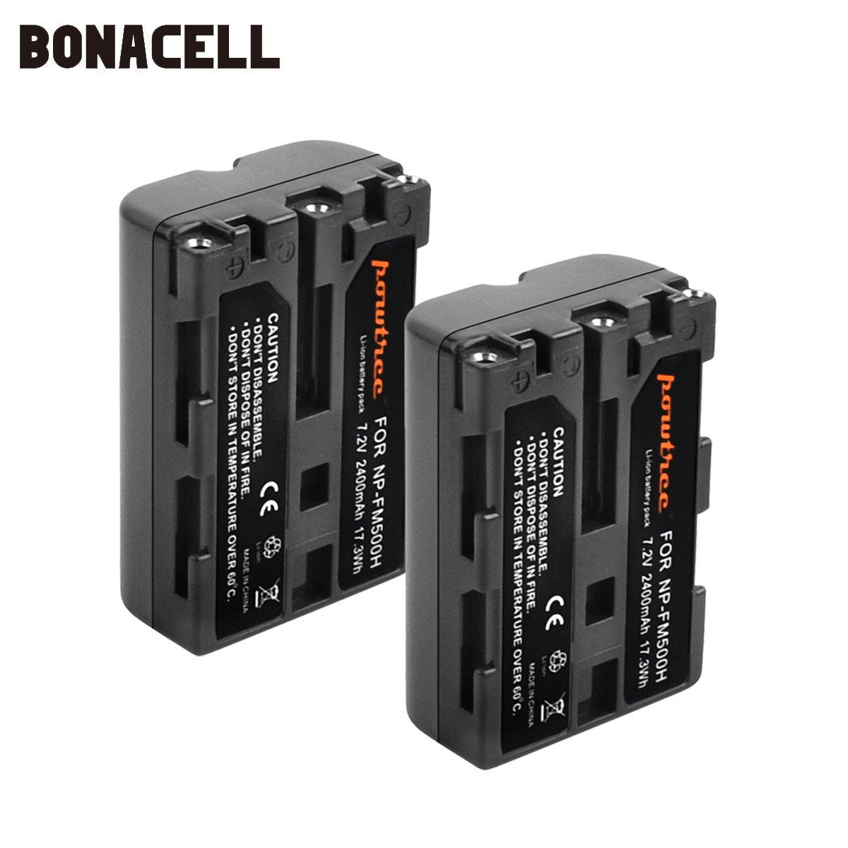 Bonacell 2400mAh NP-FM500H NP FM500H NPFM500H Camera Battery For Sony A57 A58 A65 A77 A99 A550 A560 A580 Battery L10
