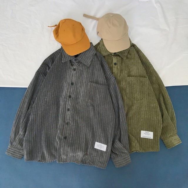 Corduroy Long Sleeve Casual Shirt 6
