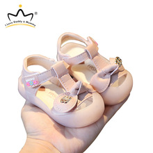 Toddler Shoes Sandals Baby Summer Rubber-Sole Princess Soft Bowtie