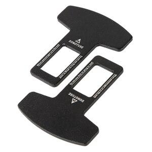 Image 5 - 2pcs Universal Metal Car Safety Seat Belt Buckle Alarm Stopper Clip Clamp Eliminator Stop Warning