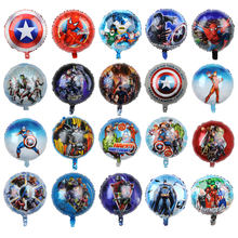 50 stücke 18 zoll Spinne Hero Mann Batman Folie Helium Ballons Baby Boy Geburtstag Party Dekoration Bälle Cartoon kinder Spielzeug(China)