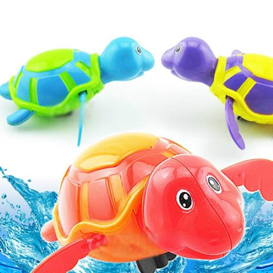 1PC Cute Turtle Swim Animal Wound-up Chain Clockwork Baby Kid Bathroom Bathing Toy Water Toy Swimming Pool & Accessories