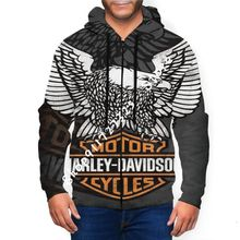 Pullover Harley-Davidson Sweatshirt Hoodie Graphic Eagle Youth Custom 3D Full-Zip-Hooded