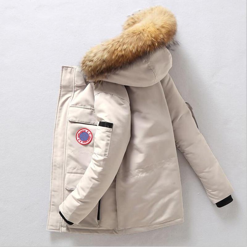 90%Down Jackets Men Winter Jacket Men Fashion Thick Warm Parkas Fur White Duck Down Coats Casual Man Waterproof Down Jackets 877