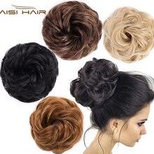 Синтетические упругие накладные волосы, Скручивающиеся волосы, вьющиеся волосы на заколках, шиньон, аксессуары для волос, термостойкие волосы
