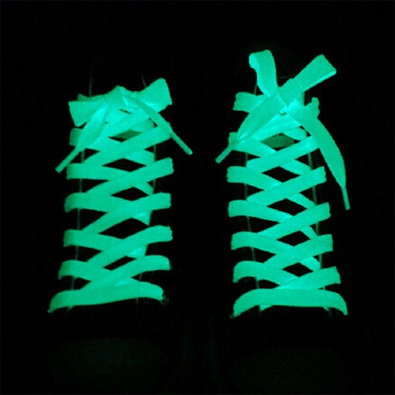 1 Pair Sport Shoes Lace 1M Polyester Neon Color Luminous Fluorescent Shoelaces