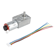 GM4632-370 DC 24V 80RPM High Torque Turbo Encoder Motor Worm Geared Motor Reducer Motor Reversible High Torque Turbo Geared