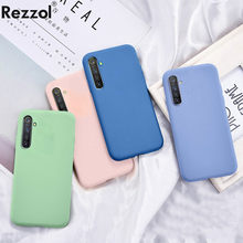 Liquid Silicone Phone Case For OPPO Realme XT X2 K5 Cover Soft Silicone TPU Baby Skin Touch Back Protective Cover For Realme XT(China)