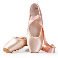 Chaussures de danse de Ballet pour enfants et adultes, chaussures professionnelles avec rubans, baskets pour femmes
