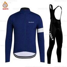 цена на Cycling Jersey 2019 Pro Winter Bike Bib Pants Set MTB Ropa Ciclismo Thermal Fleece Men Long Sleeve Cycling Clothing Bicycle Wear